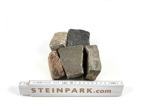 Gebrauchtes Kalkstein Mosaikpflaster 3-5 cm unregelmäßig