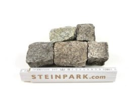 Gebrauchtes Granit Mosaikpflaster 4-6 cm grau-gelb
