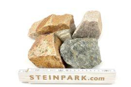 Gabionenstein Granit Herbstlaub 60-90 mm bunt