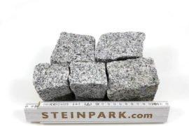 Neues Granit Mosaikpflaster Feinkorn 4-6 cm hellgrau