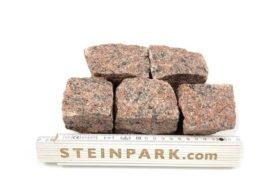 Neues Granit Mosaikpflaster 4-6 cm regelmäßig