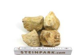 Gabionenstein Kalkstein Amarillo Caliza 60-120 mm gelblich