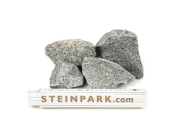Gabionenstein Granit Silver Gris 60-90 mm hellgrau