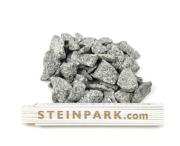 Ziersplitt Granit Silver Gris 16-32 mm hellgrau