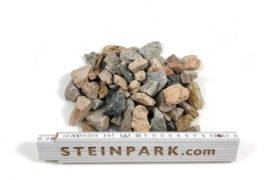 Ziersplitt Granit herbstlaub 16-32 mm orange-bunt