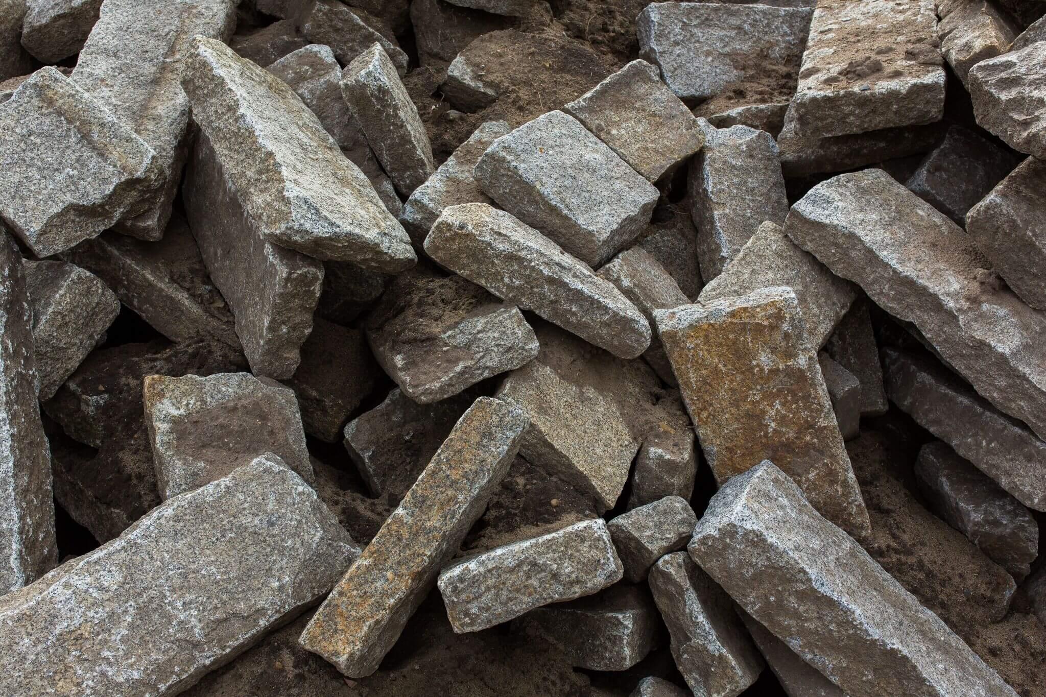Granit Bord gebraucht grau-gelb 4