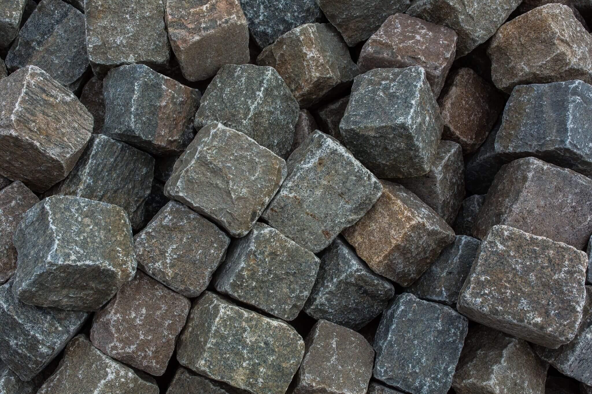 Granit Großpflaster 15-17 cm Wiese bunt gebraucht 4