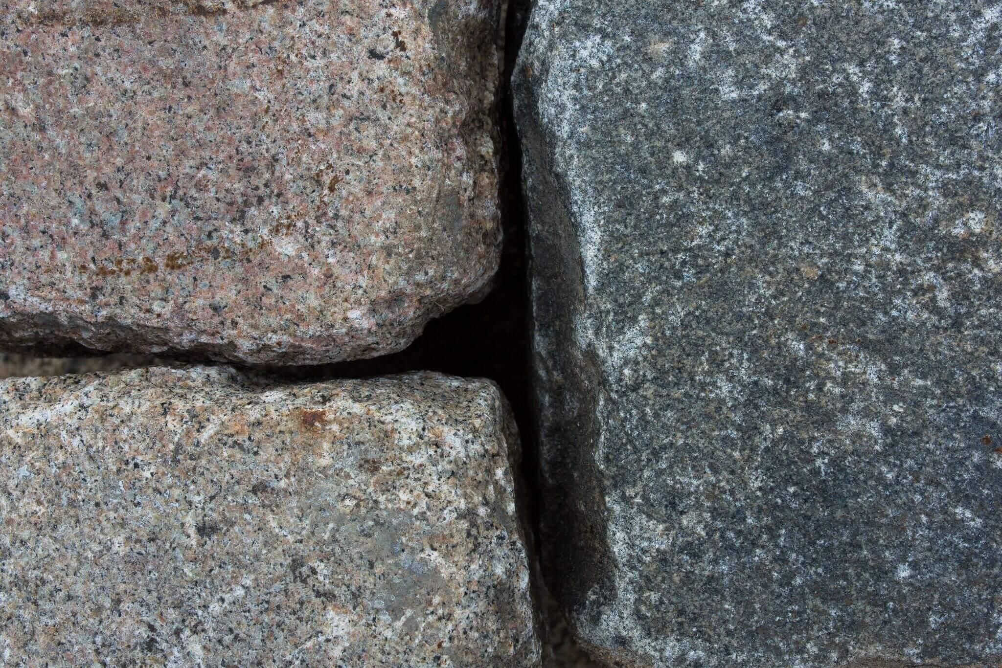 Granit Großpflaster 15-17 cm Wiese bunt gebraucht 5