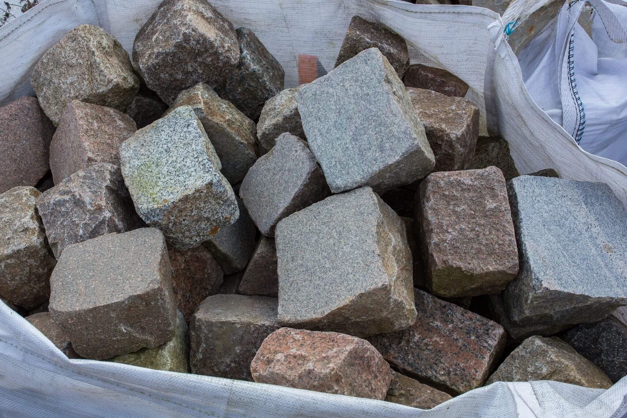 Granit Großpflaster 15-25 cm gesägt