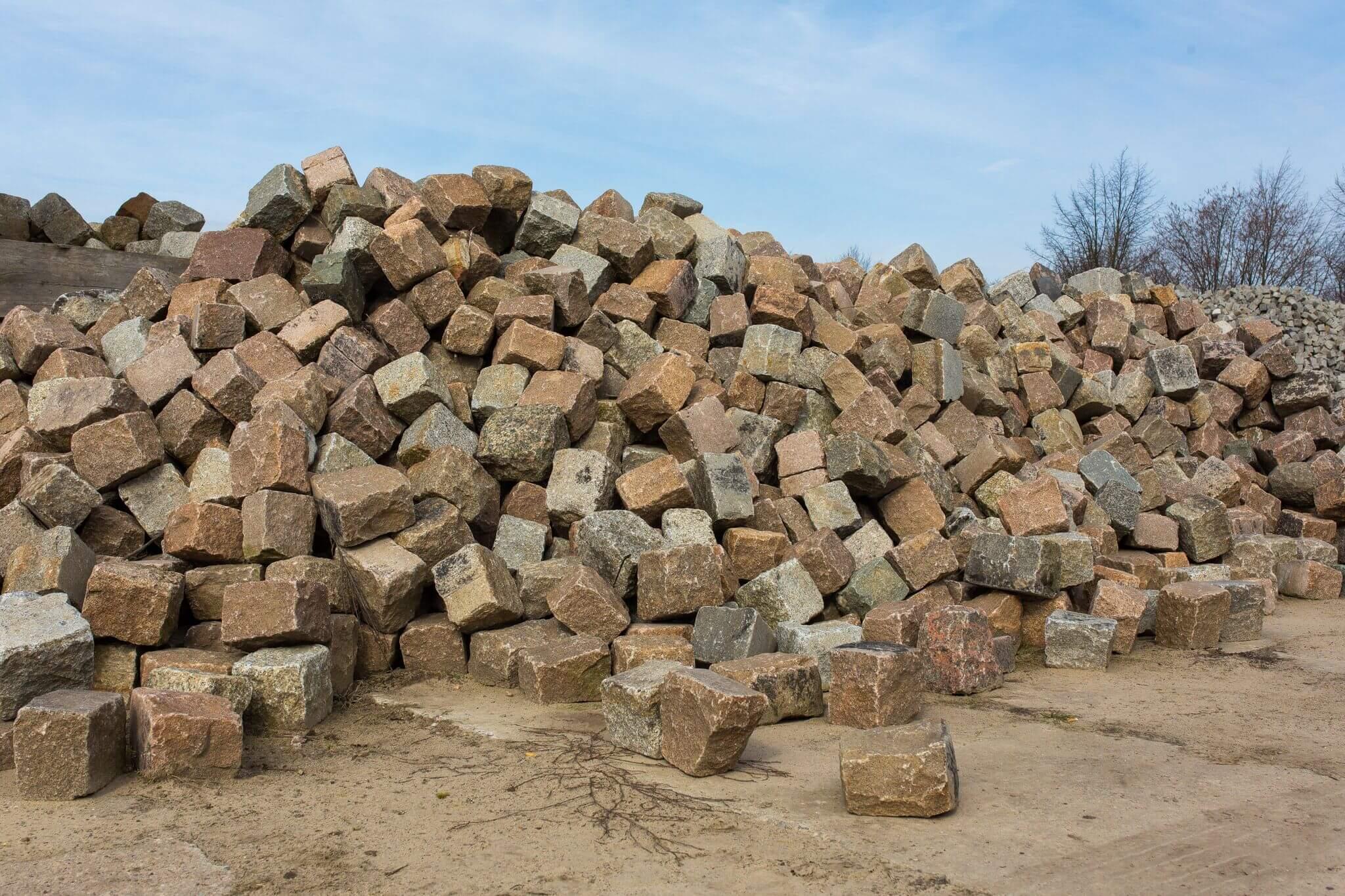 Granit Großpflaster Box54 bunt 2
