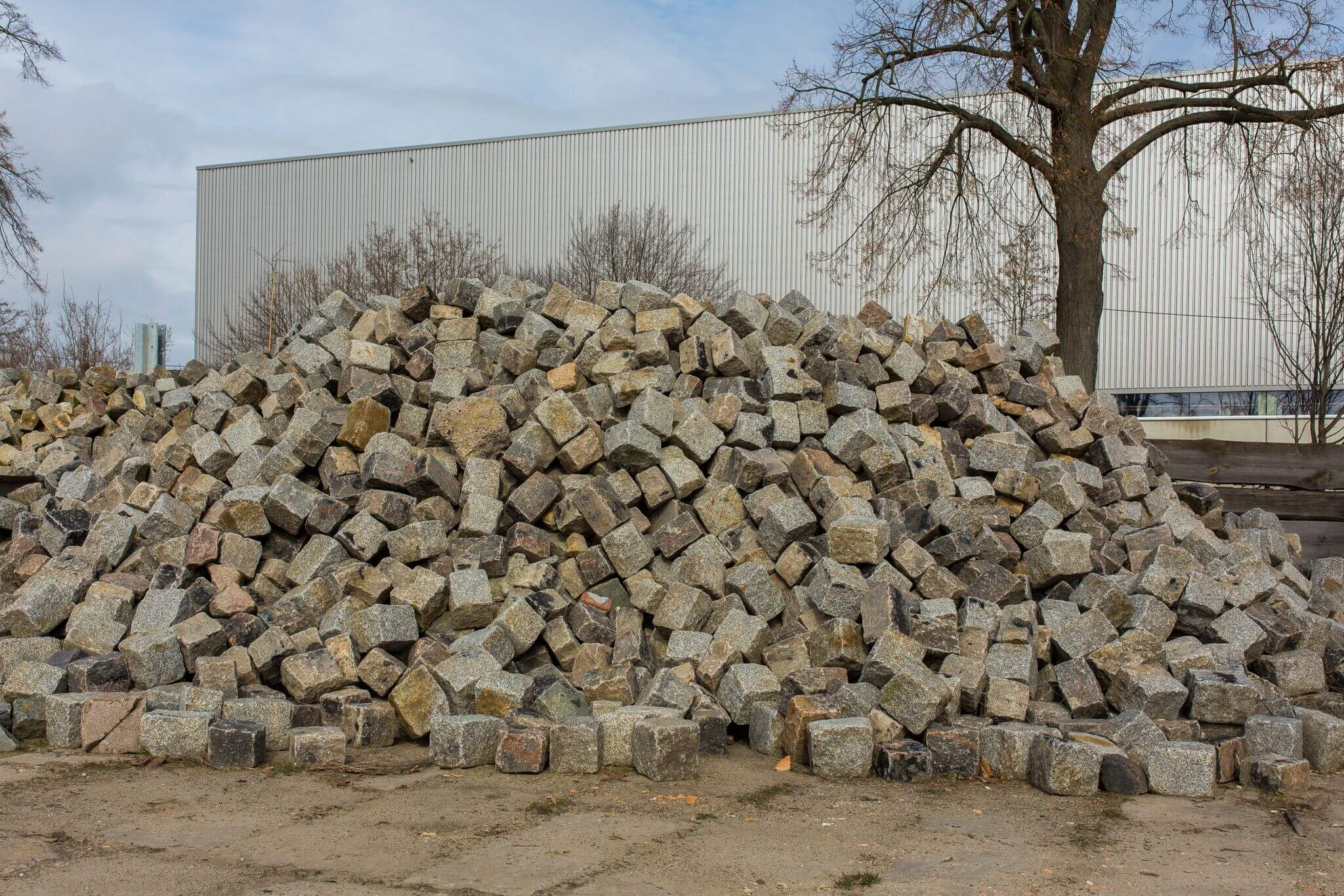 Granit Großpflaster15-20 cm box 6 gebraucht 1