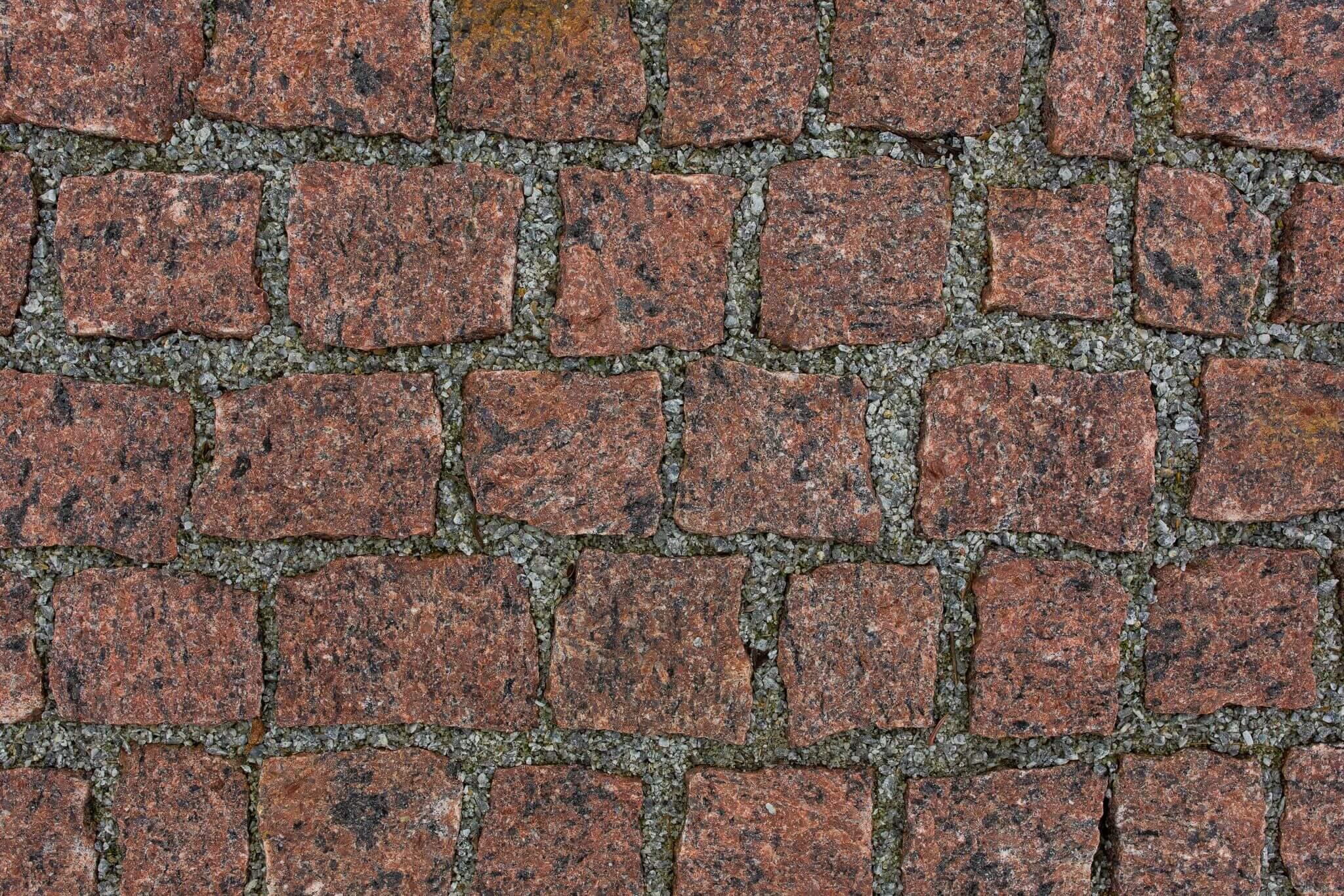 Granit Mosaik box84 rot-schwarz regelmäßig 6