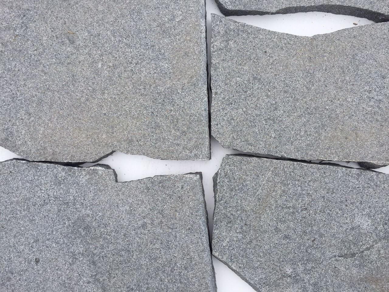 Granit Polygonalplatte dunkelgrau 2