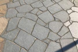 Granit Polygonalplatte dunkelgrau unregelmäßig gebrochen