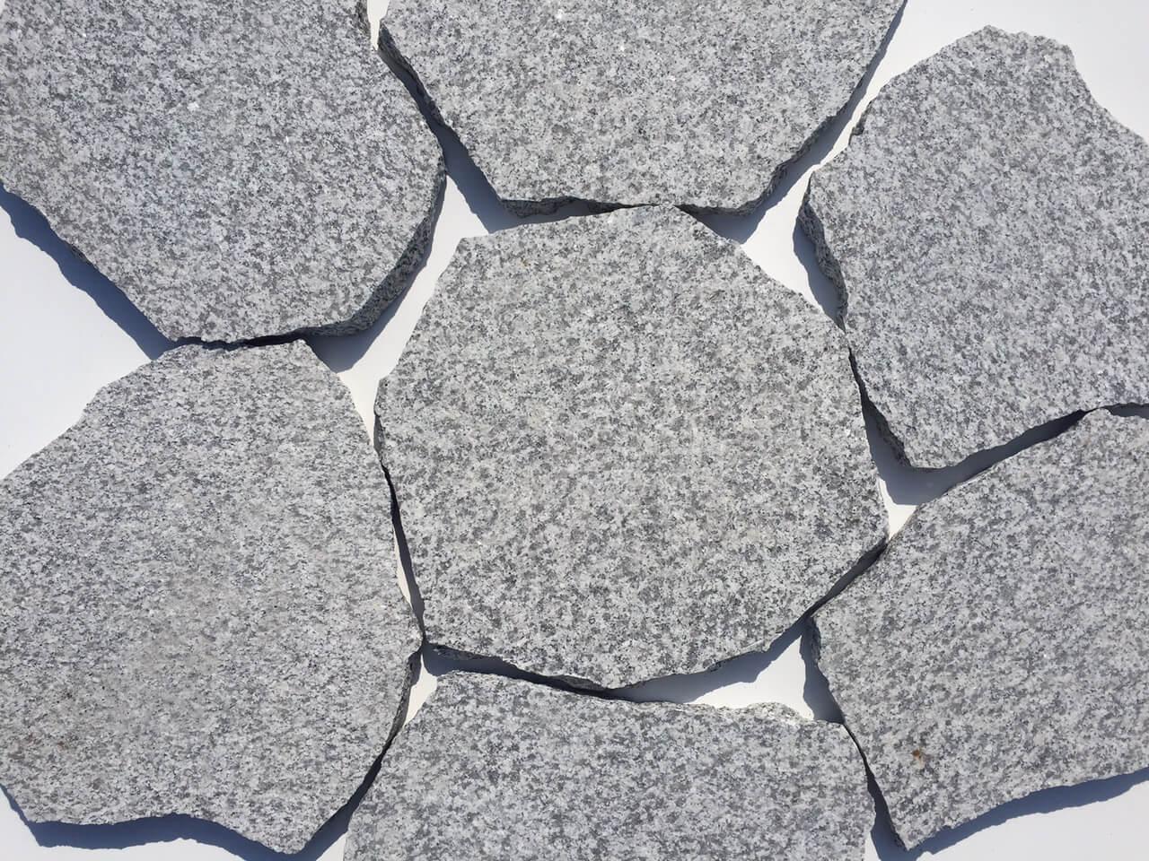 Granit Polygonalplatte hellgrau 1