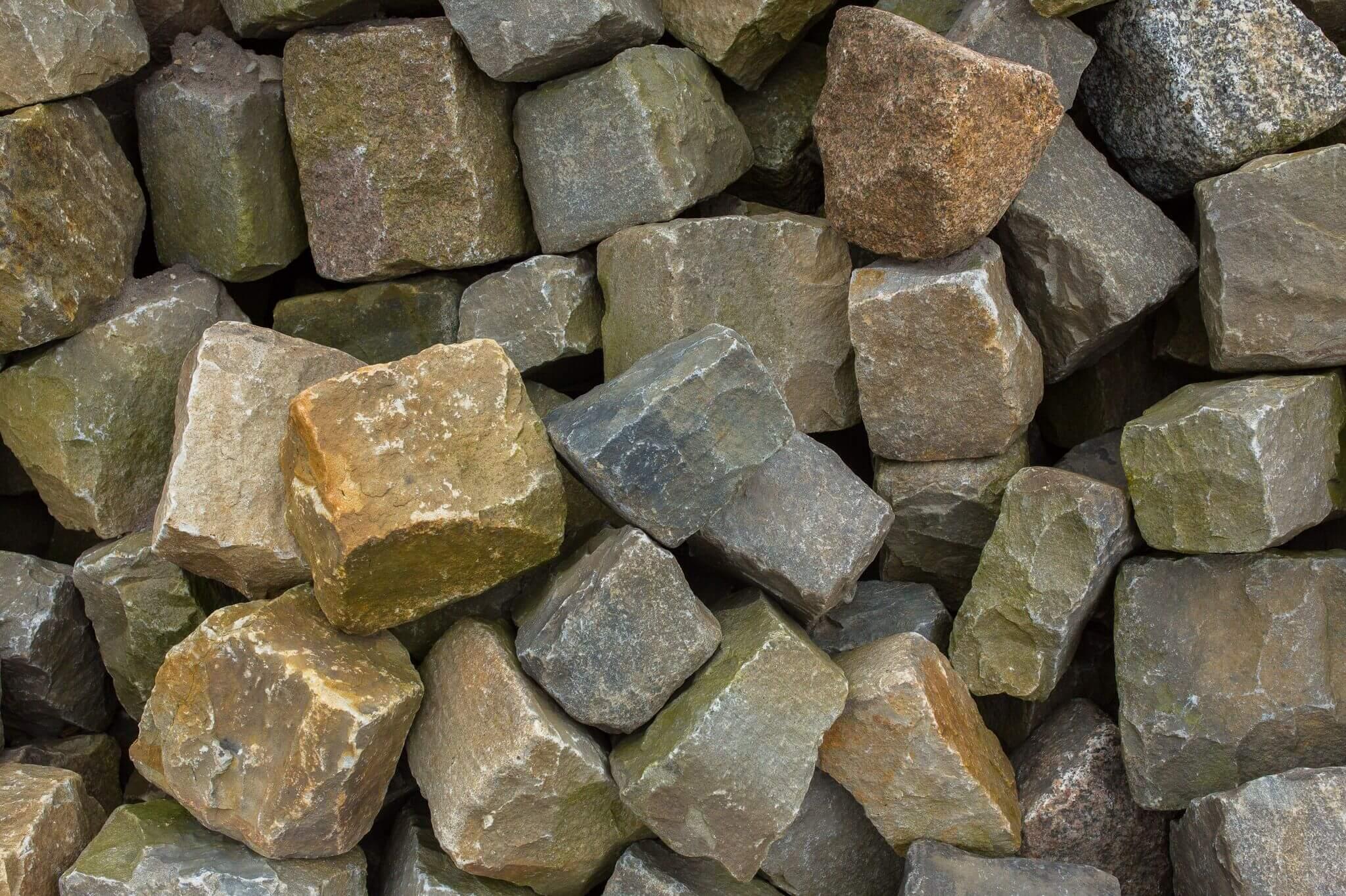 Kalkstein Großpflaster Box72 gebraucht 4
