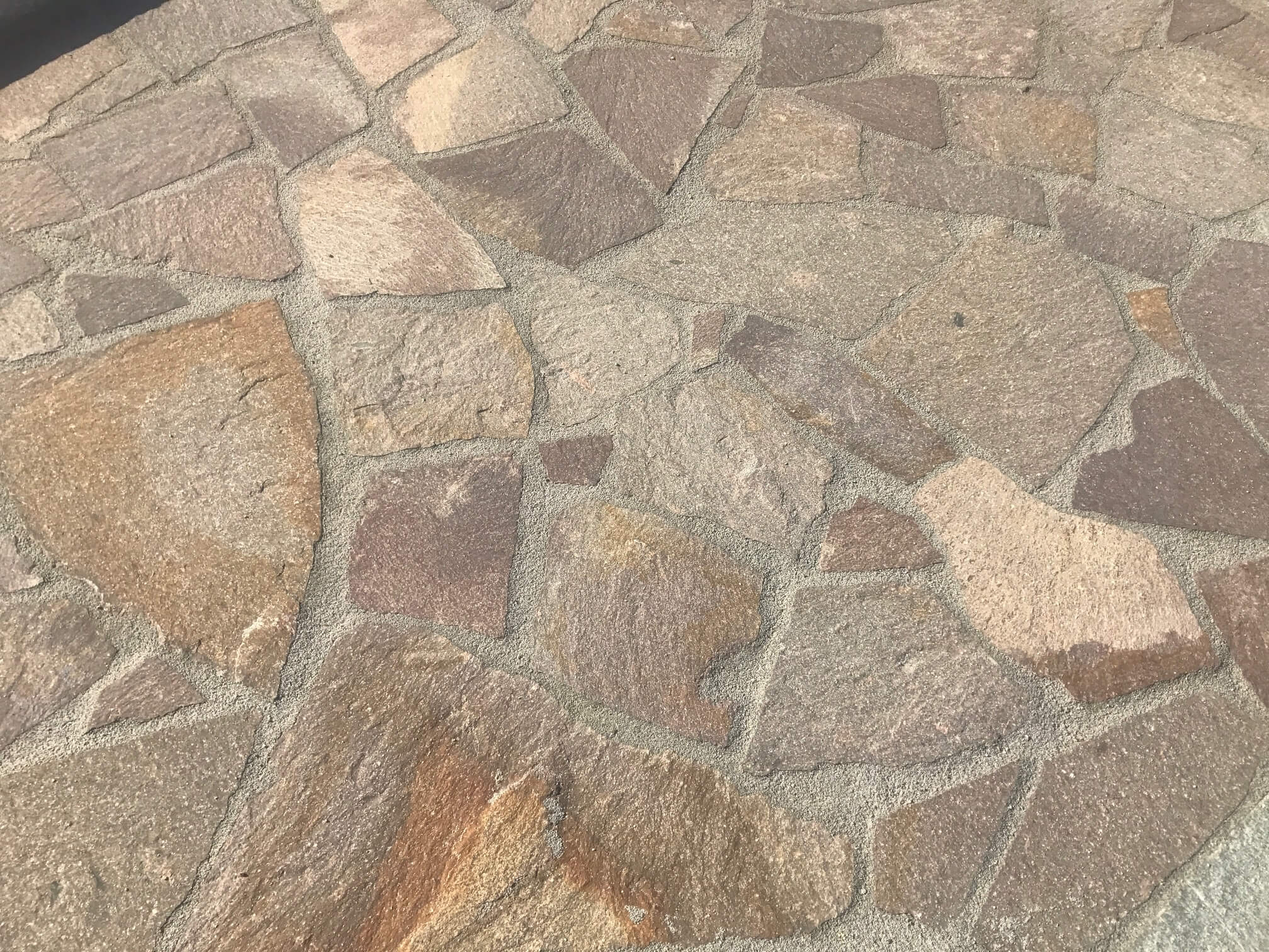 Porphyr Polygonalplatte rot-braun 4