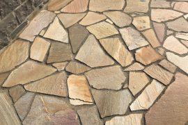 Quarzit Polygonalplatte gelblich unregelmäßig gebrochen