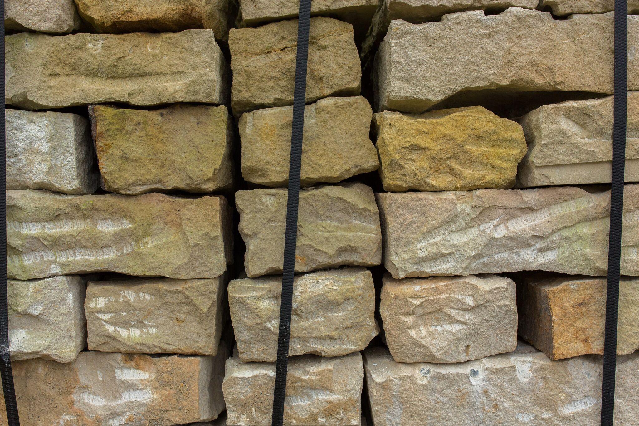 Sand Mauerstein 10x20x40 cm gelb 2