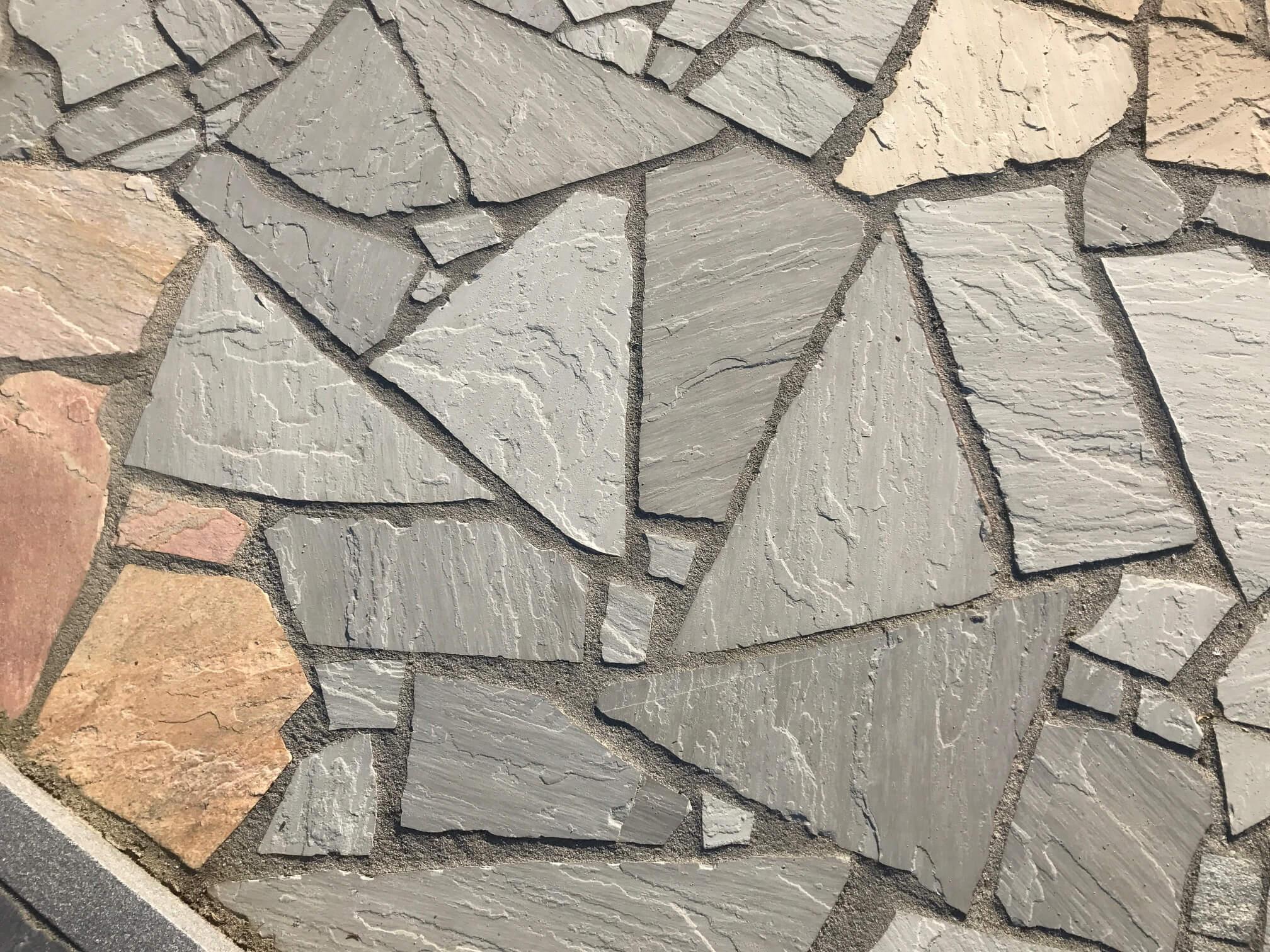 Quarz-Sand Polygonalplatten grau unregelmäßig gebrochen