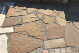 Quarz-Sand Polygonalplatten rot-braun unregelmäßig gebrochen