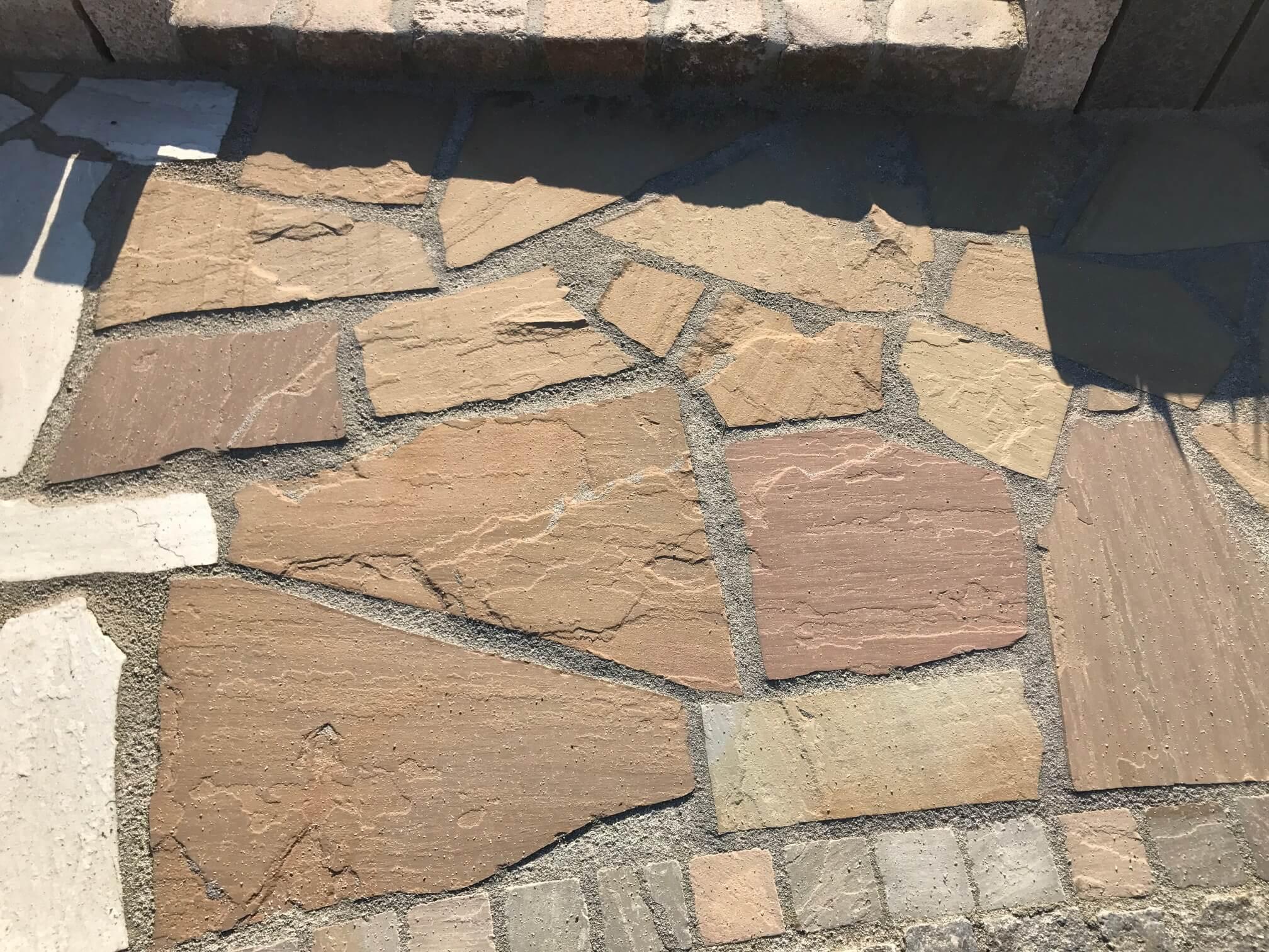 Sandstein Polygonalplatte rot-braun 5