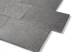Basanit Terrassenplatte 40x60x3 cm anthrazit-schwarz