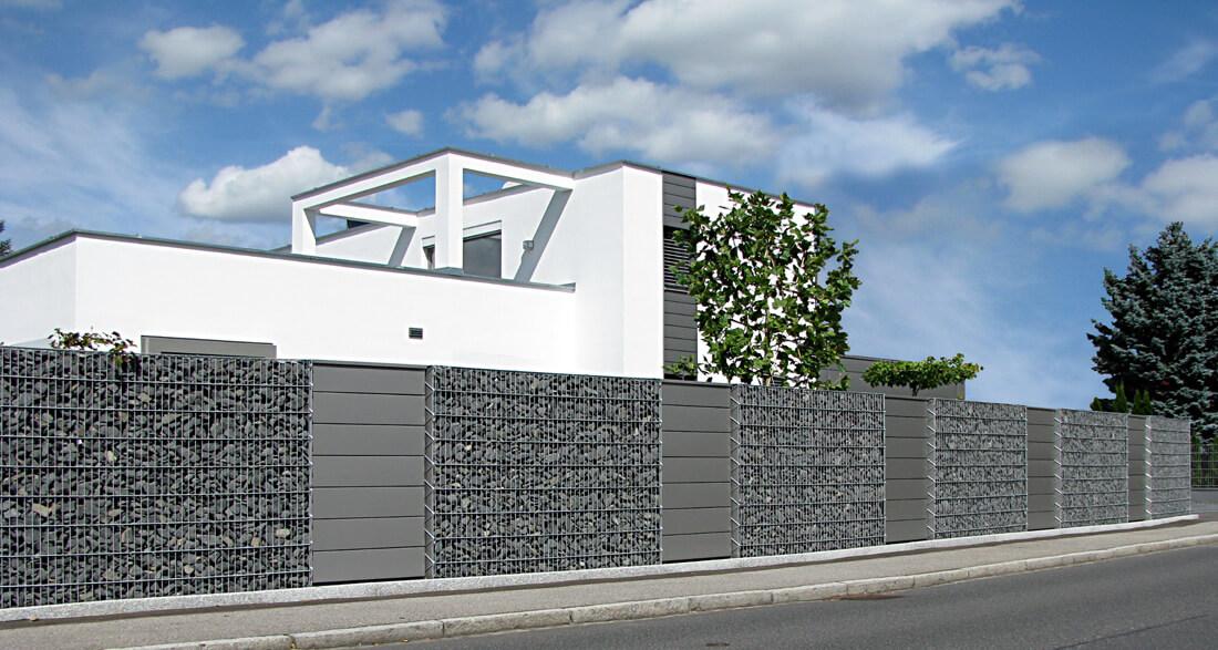 gabionenwand 23 cm. Black Bedroom Furniture Sets. Home Design Ideas