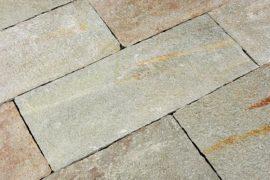 Gneis Terrassenplatte 40 cm Bahnenware bunt-silber