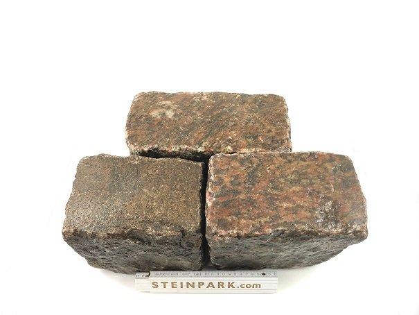 Gebrauchtes Granit Großpflaster 16-28 cm Reihenpflaster rötlich