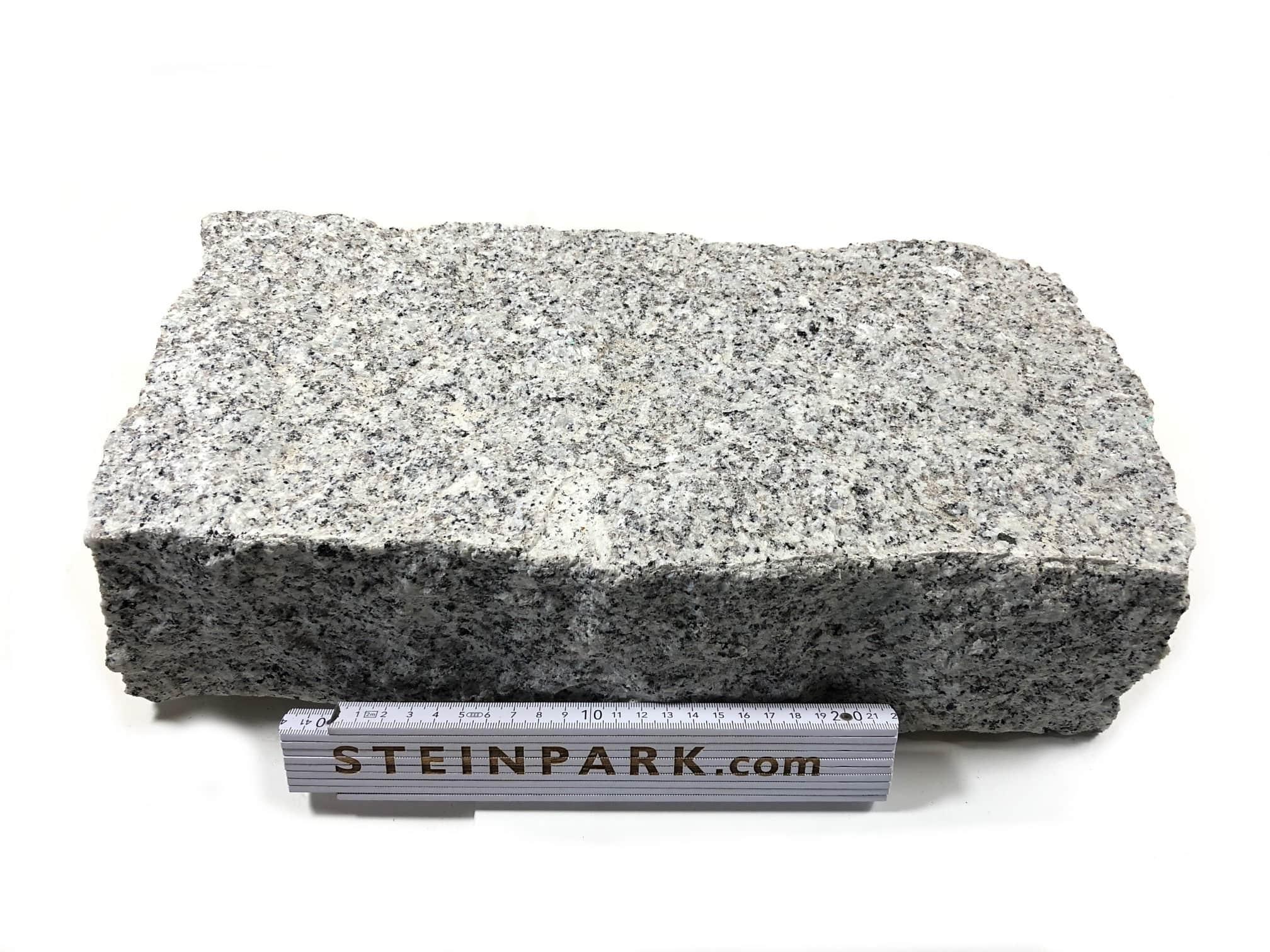 Granit Mauerstein 10x20x40 cm grau