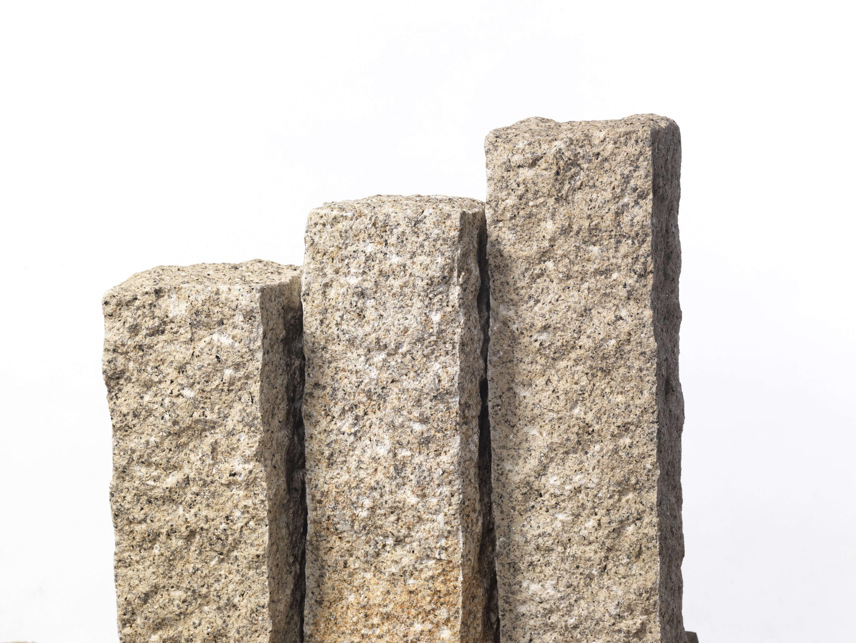 Granit Palisade 12x12x100 Cm Gelb Grau
