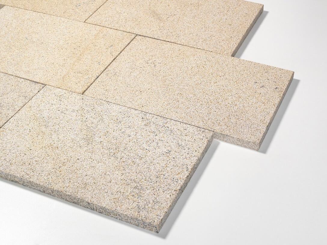 granit terrassenplatte gelb-grau 40x60x3 cm