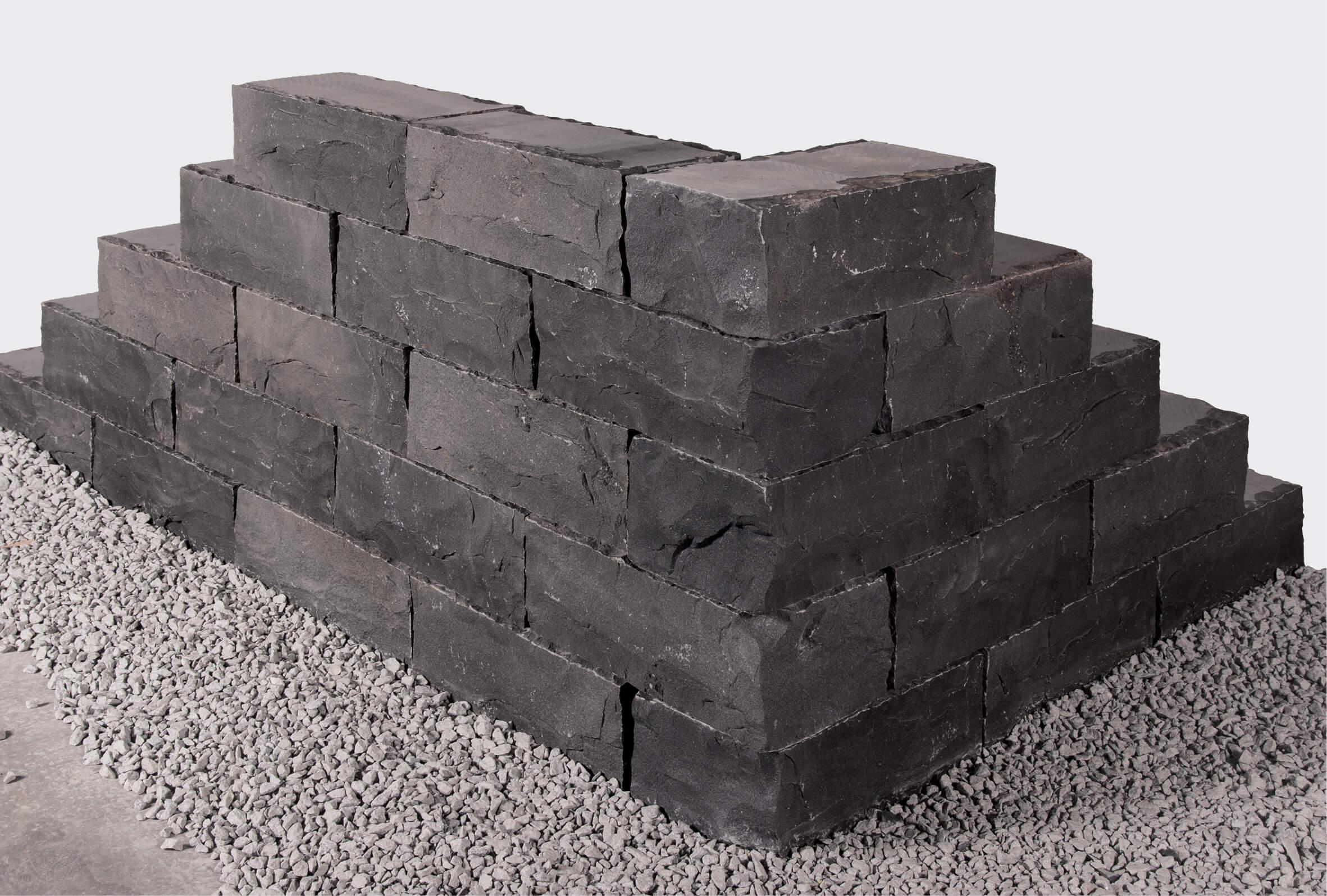 basalt klostermauerstein 15x20x40 cm schwarz. Black Bedroom Furniture Sets. Home Design Ideas