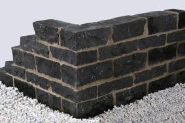 Basalt Mauerstein 20x20x40 cm schwarz