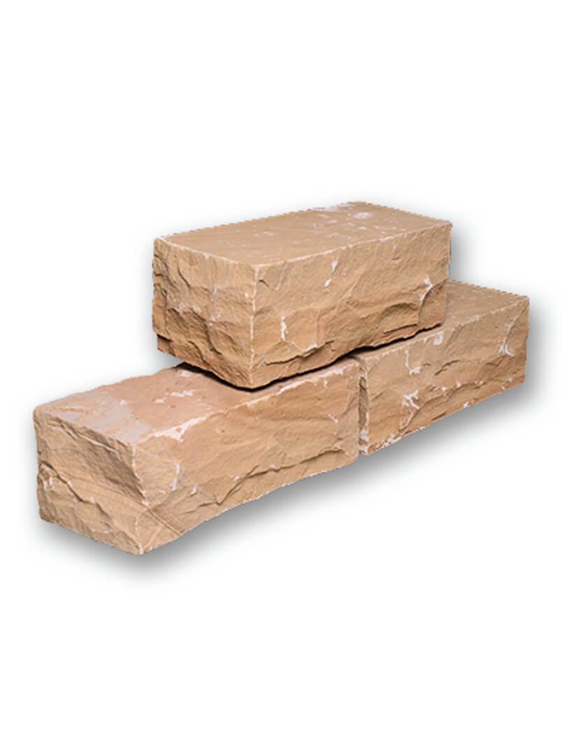 mauerstein quarz sandstein gelblich gespalten 1