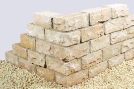 Quarzsand Mauerstein 14x16x35 cm gelblich