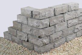 Quarzsand Mauerstein 15x20x30-50 cm grau