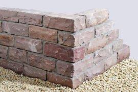 Quarzsand Mauerstein 14x16x35 cm rot-braun