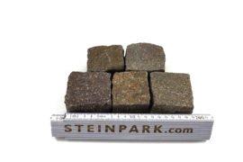 Neues Porphyr Mosaikpflaster 4-6 cm rot-braun-bunt