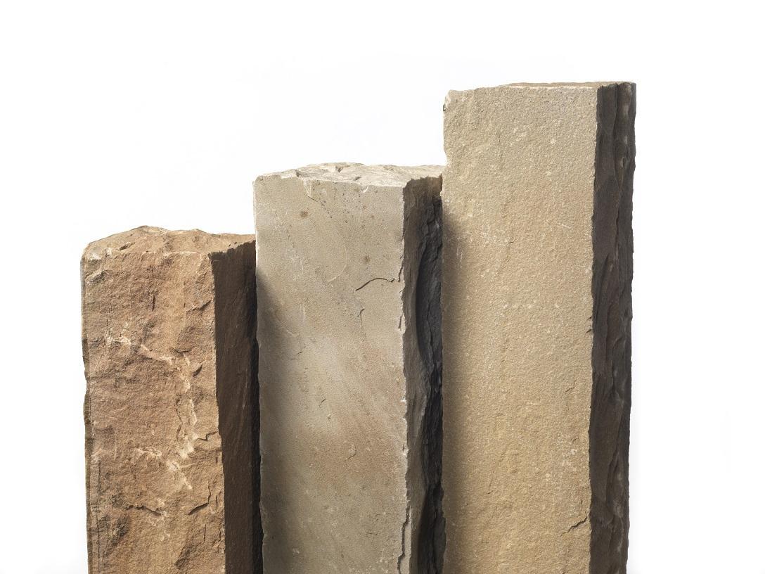 Quarz-Sand Palisaden 12x12x100 cm Toscana bunt