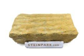 Sand Mauerstein 10x20x40 cm gelblich-grau