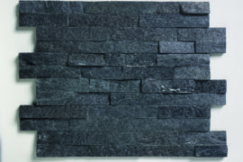 Quarzit Wandverblender Black Quarzite 60x15x1,5-2,5 cm