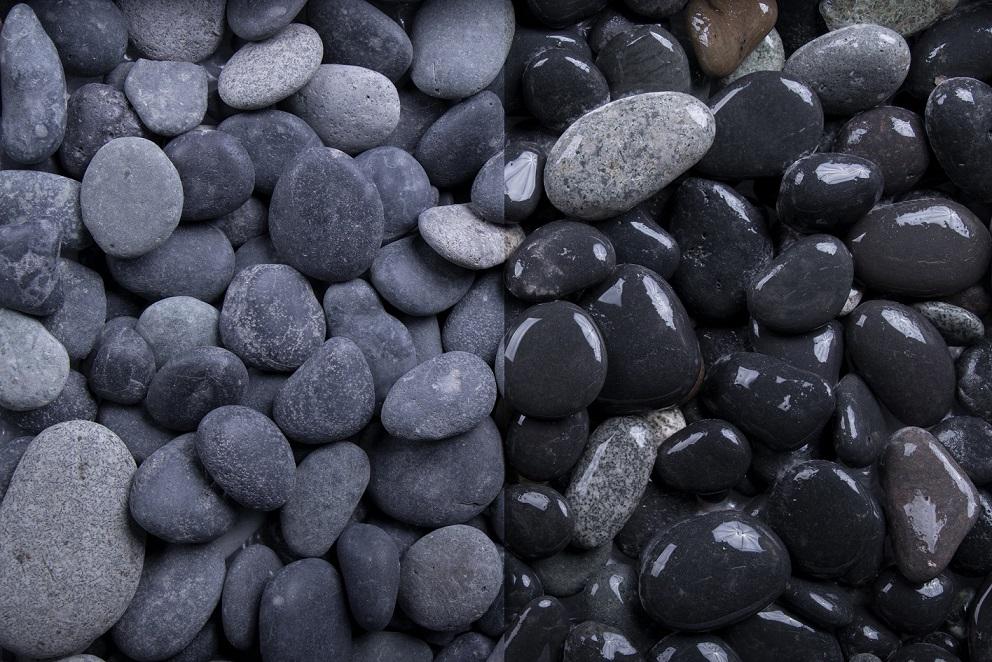 zierkies beach pebbles 16 32 mm anthrazit grau. Black Bedroom Furniture Sets. Home Design Ideas