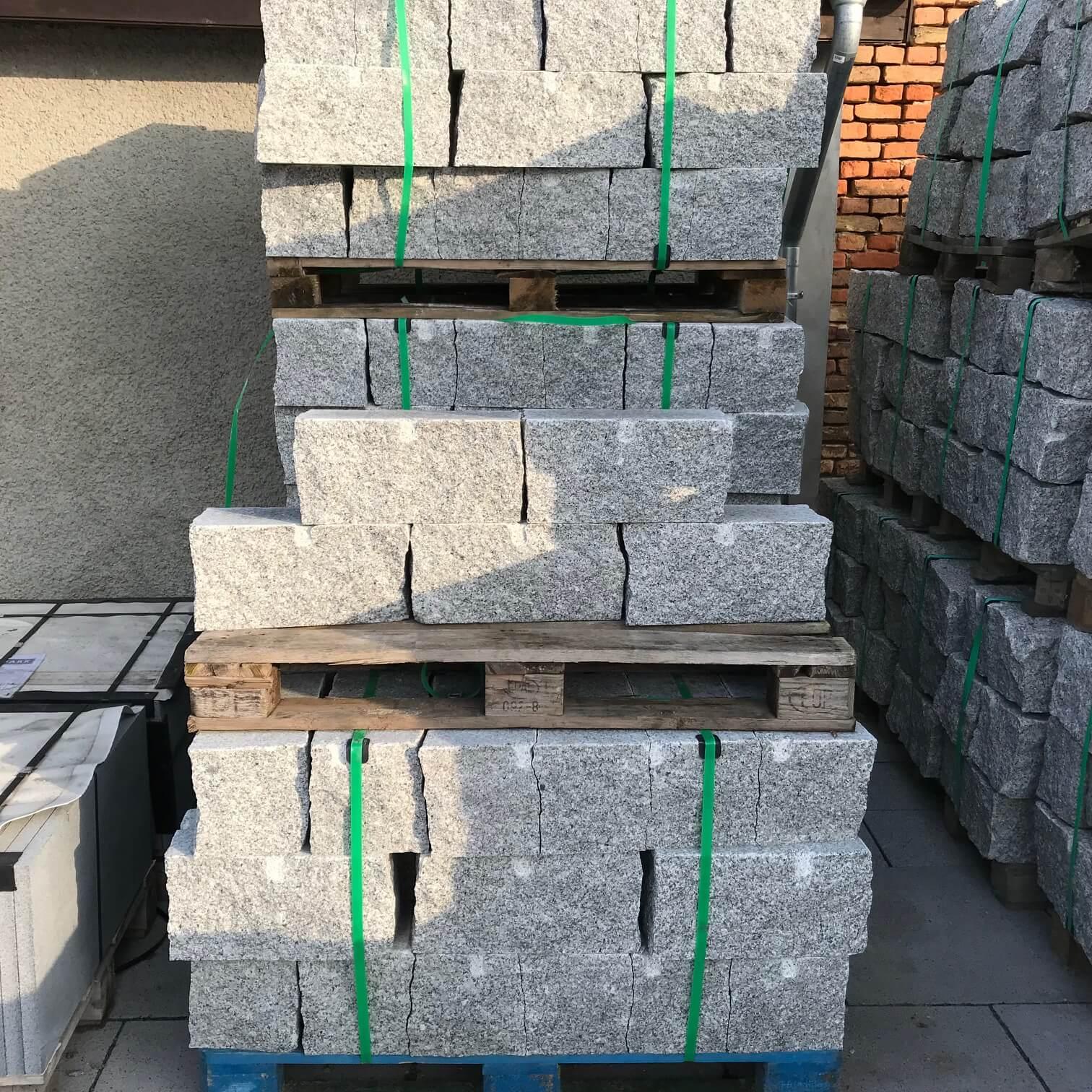 granit mauerstein 2 seitig gesägt hellgrau