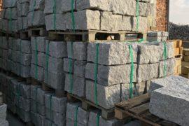 Granit Mauerstein 20x20x40 cm grau