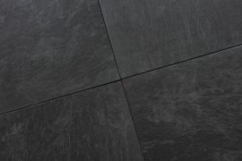 Keramik Terrassenplatte 60x60x1,8 cm Pacific Slate Nero anthrazit
