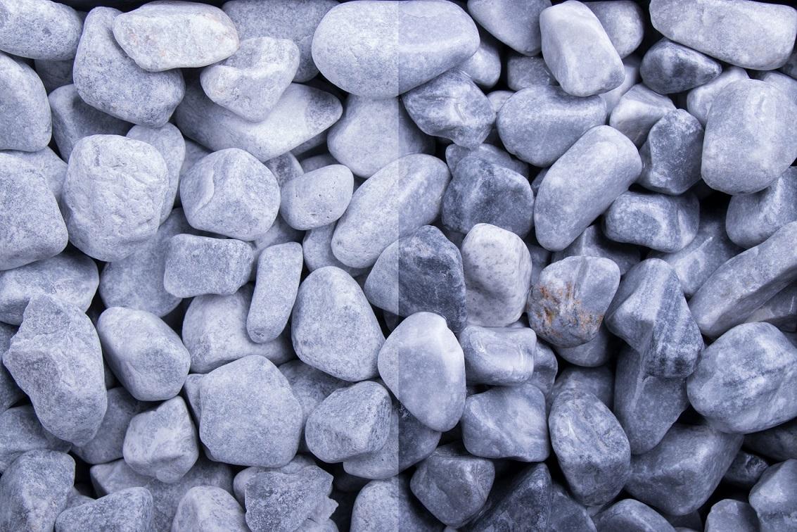 Zierkies Marmor Icy Blue 16-32 mm blau