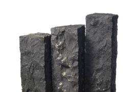 Basalt Palisade 12x12x100 cm schwarz