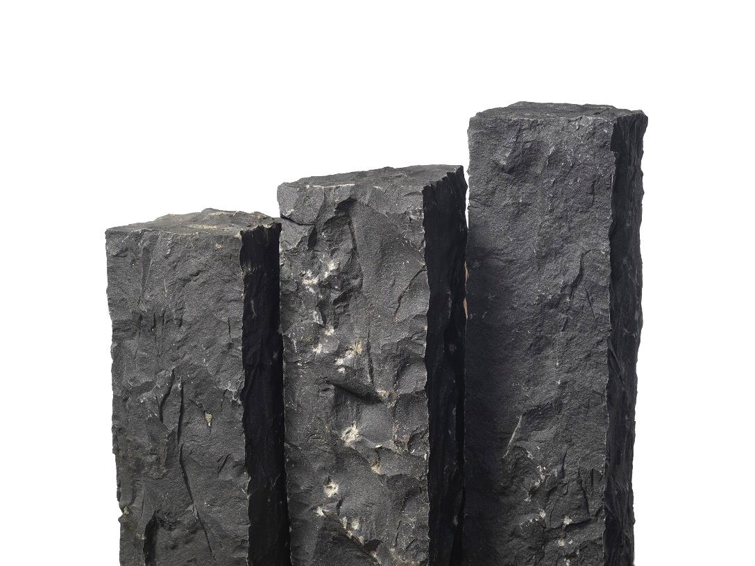 basalt palisade 12x12x100 cm schwarz. Black Bedroom Furniture Sets. Home Design Ideas
